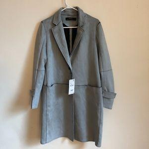 Zara Basic - Faux Suede Trench Coat